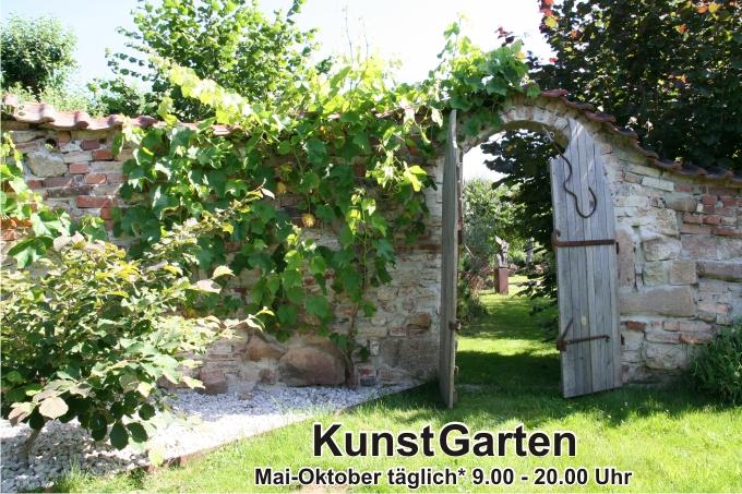 Kunstgarten, Skulpturengarten, offener Garten, Sehenswürdigkeit an der Talsperre Kriebstein